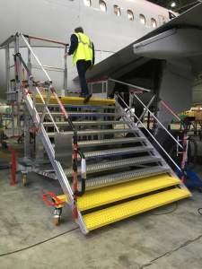 Escabeau accès toboggan A320