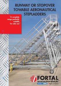 runway or stopover towable aeronautical stepladders