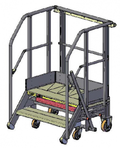 Mobile transmission access stepladder W4 lightweight helicopter