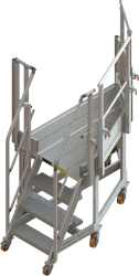 Mobile hold access stepladder