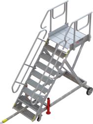 9-step towable runway stepladder