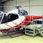Escabeau mobile pour la maintenance des hélicoptères