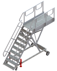 10-step runway stepladder