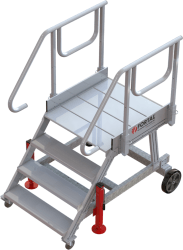 4-step runway stepladder