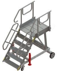6-step runway stepladder