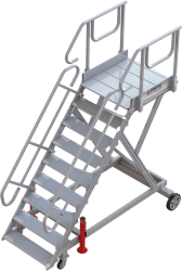 9-step runway stepladder