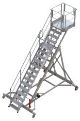 Multipurpose height-adjustable runway stepladder