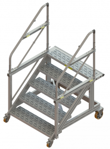 Mobile access stepladders for helicopters