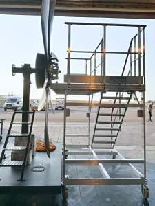 Mobile platform for ATR blade maintenance