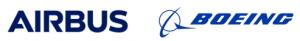 Logos Airbus et Boeing