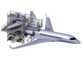 Plateforme d'accès pour avions