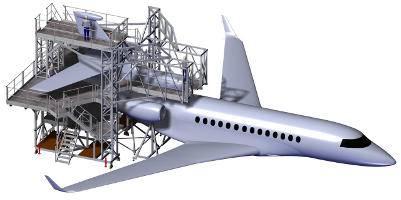 Plateforme d'accès dérive pour avion