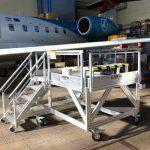 Plateforme de maintenance pour train d'atterrissage
