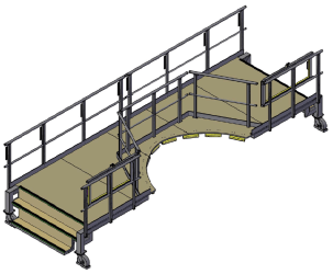 Windshield access platform – lower level