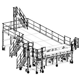 3D view - platform for air force aircraft maintenance