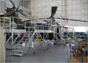 Platform for PUMA helicopter maintenance