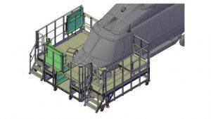 Forward section platform H175