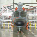 Plateforme de maintenance pour hélicoptère Dauphin