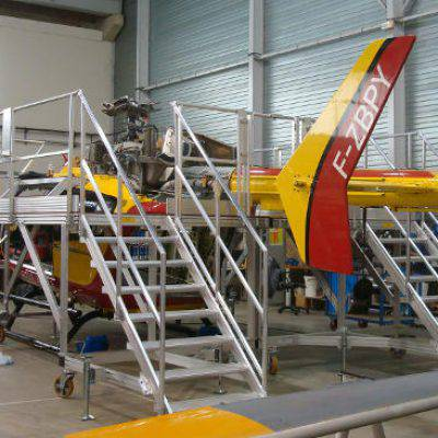 Plateforme de maintenance pour hélicoptère sécurité civile