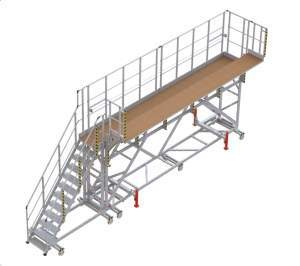Plateforme mobile accès antennes pour PC24 3D
