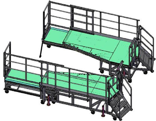 3d view of side dock left / right for helicopter access
